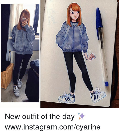 Dank, Instagram, and 🤖: h( New outfit of the day ✨  www.instagram.com/cyarine