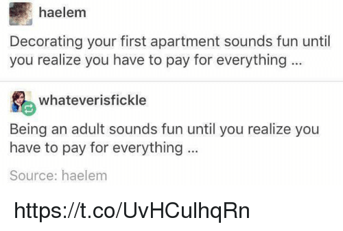 Haelem decorating your first apartment sounds fun until you realize you have to pay for - Decorating your first apartment ...