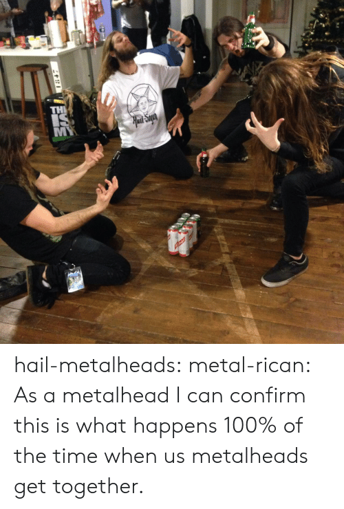 metalhead: hail-metalheads:  metal-rican:  As a metalhead I can confirm this is what happens 100% of the time when us metalheads get together.