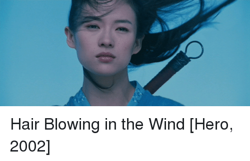 Hair blowing in the wind meme