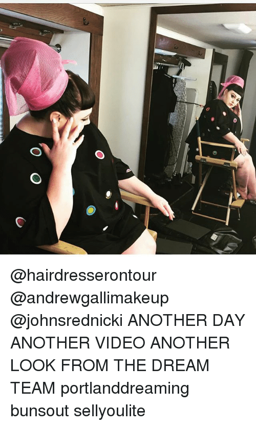 dream team: @hairdresserontour @andrewgallimakeup @johnsrednicki ANOTHER DAY ANOTHER VIDEO ANOTHER LOOK FROM THE DREAM TEAM portlanddreaming bunsout sellyoulite