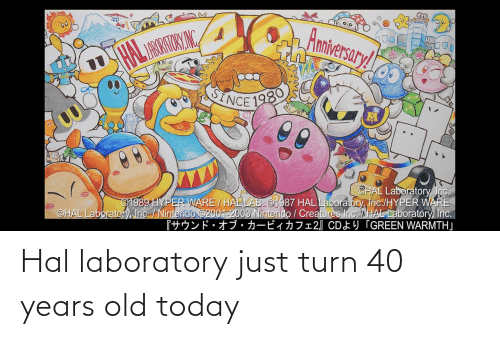 hal: Hal laboratory just turn 40 years old today