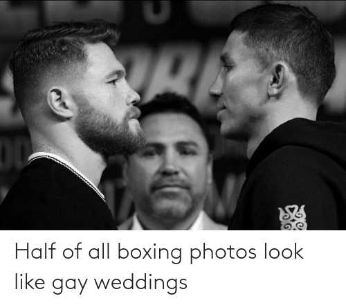 Boxing: Half of all boxing photos look like gay weddings