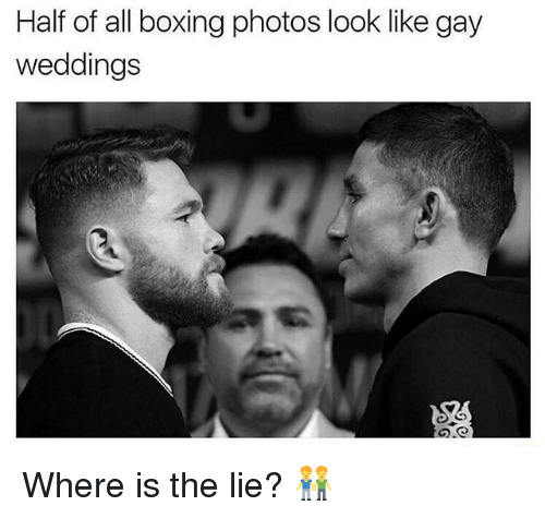 Boxing, Grindr, and Gay: Half of all boxing photos look like gay  weddings Where is the lie? 👬