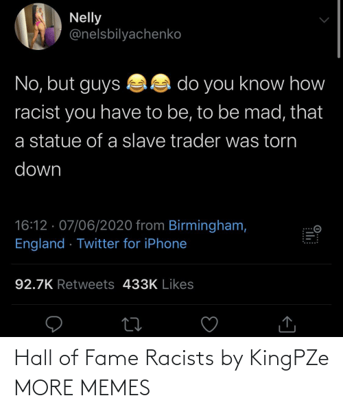hall: Hall of Fame Racists by KingPZe MORE MEMES