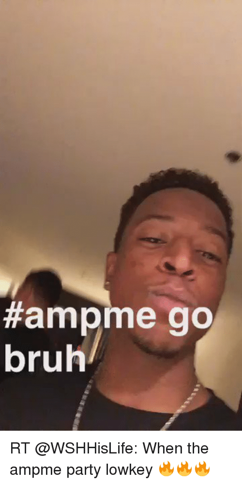 Bruh, Party, and Girl Memes: Hamp me go  bruh RT @WSHHisLife: When the ampme party lowkey 🔥🔥🔥