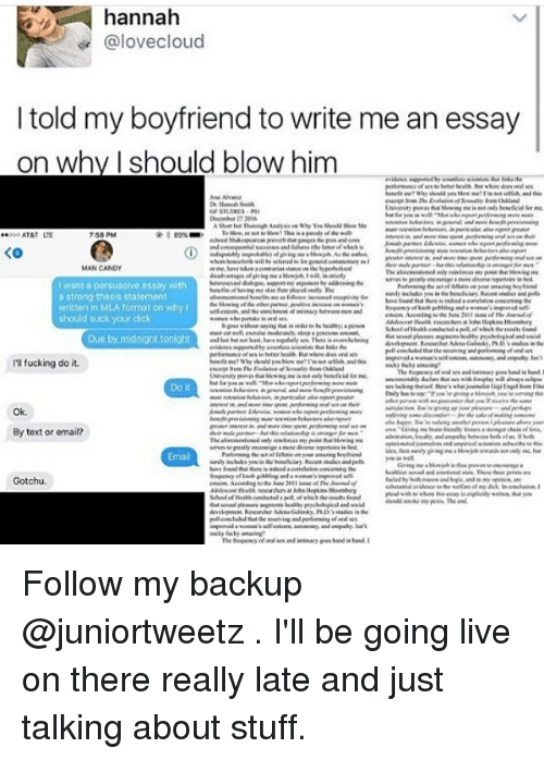 perfect boyfriend essay I think i'm just about the perfect boyfriend i'm kind, gentle and friendly i have a decent sense of humor i call every night i follow women blindly.