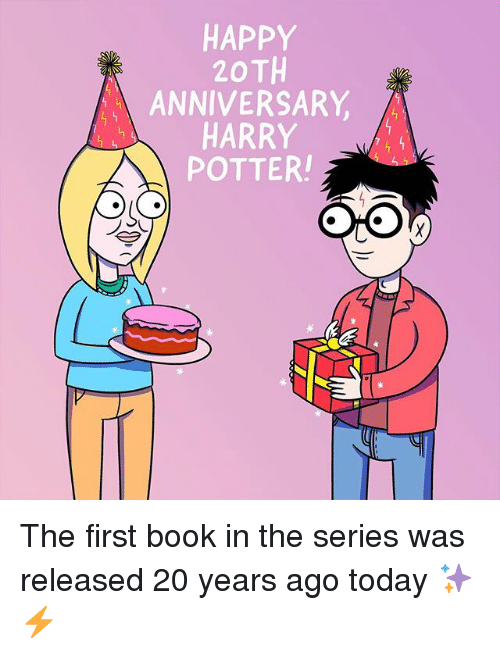 Harry Potter Book Year Released : Happy th anniversary harry potter the first book in