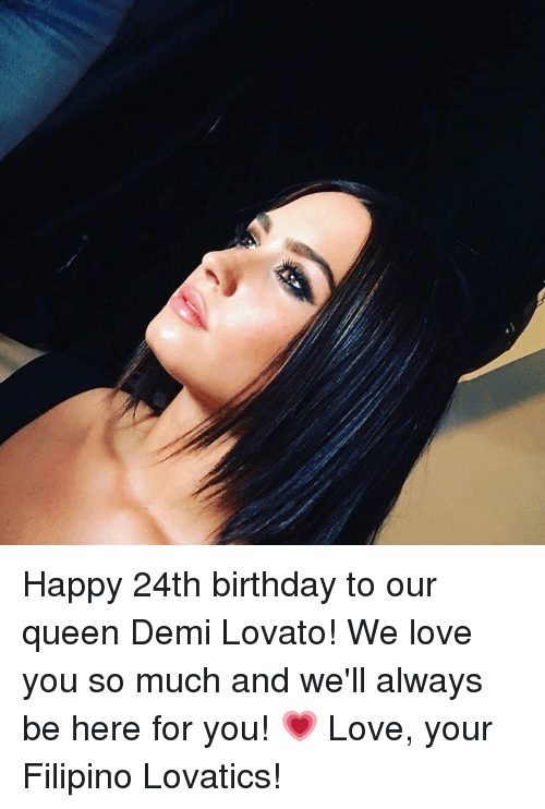 Happy 24th Birthday You Are A Beautiful Loving: Happy 24th Birthday To Our Queen Demi Lovato! We Love You