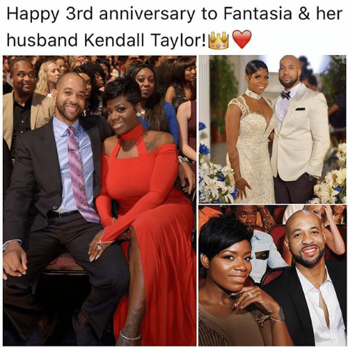 Happy rd anniversary to fantasia her husband kendall