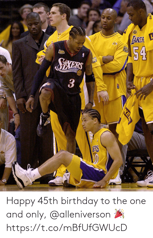Birthday: Happy 45th birthday to the one and only, @alleniverson 🎉 https://t.co/mBfUfGWUcD