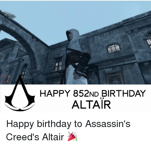 assassin creed: HAPPY 852ND BIRTHDAY  ALTAIR Happy birthday to Assassin's Creed's Altair 🎉
