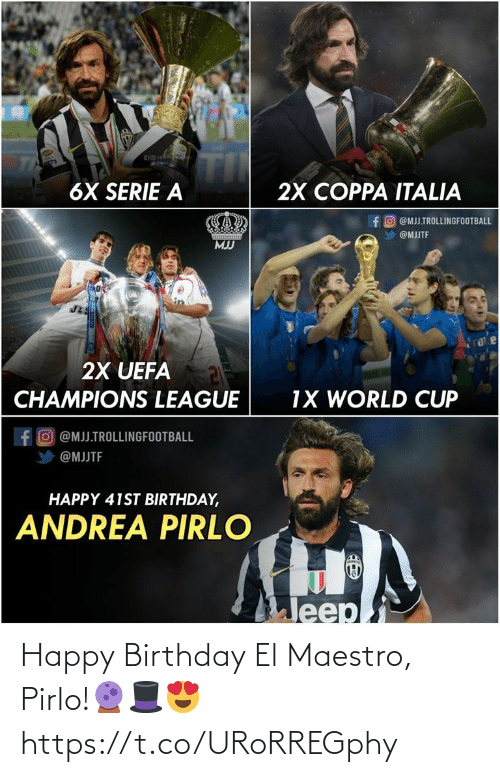 Happy Birthday: Happy Birthday El Maestro, Pirlo!🔮🎩😍 https://t.co/URoRREGphy