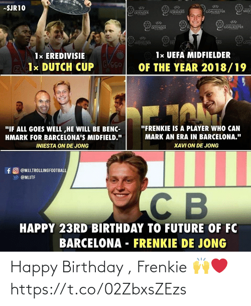 Happy Birthday: Happy Birthday , Frenkie 🙌❤ https://t.co/02ZbxsZEzs