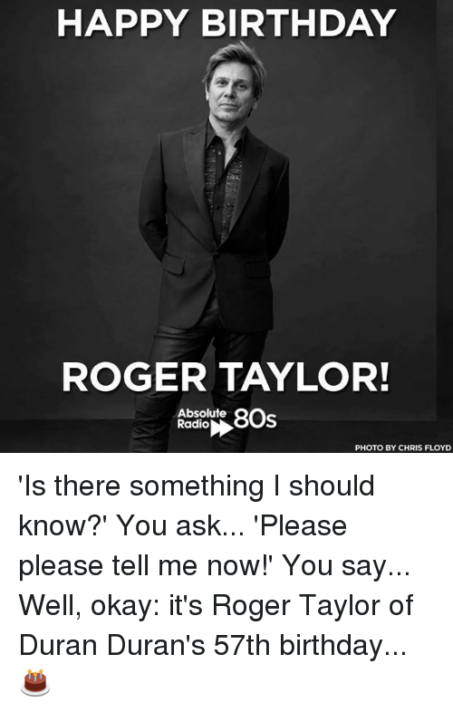 happy birthday roger taylor absolute 8os radio photo by chris 20304426 🔥 25 best memes about roger and happy birthday roger and happy