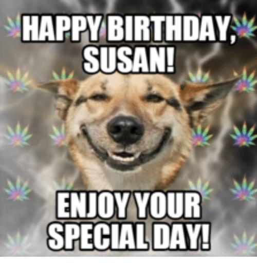 Happy Birthday Susan Cat: HAPPY BIRTHDAY  SUSAN!  ENJOY YOUR  SPECIAL DAY!