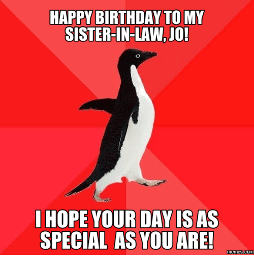 25+ Best Memes About Sister In Law Birthday