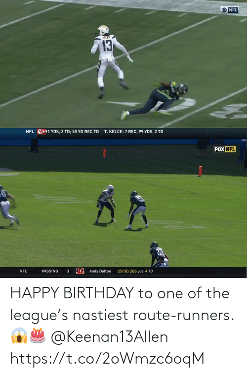 Birthday: HAPPY BIRTHDAY to one of the league's nastiest route-runners. 😱🎂 @Keenan13Allen https://t.co/2oWmzc6oqM