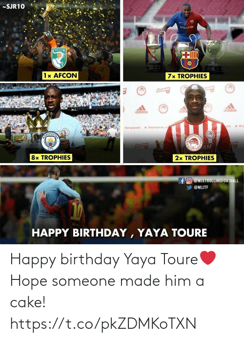 Happy Birthday: Happy birthday Yaya Toure❤️ Hope someone made him a cake! https://t.co/pkZDMKoTXN