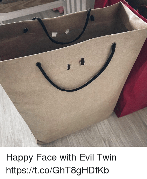 Happy, Evil, and Faces-In-Things: Happy Face with Evil Twin https://t.co/GhT8gHDfKb