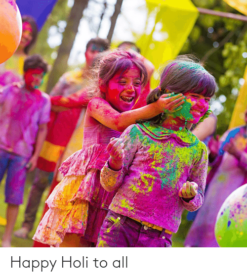 holi: Happy Holi to all