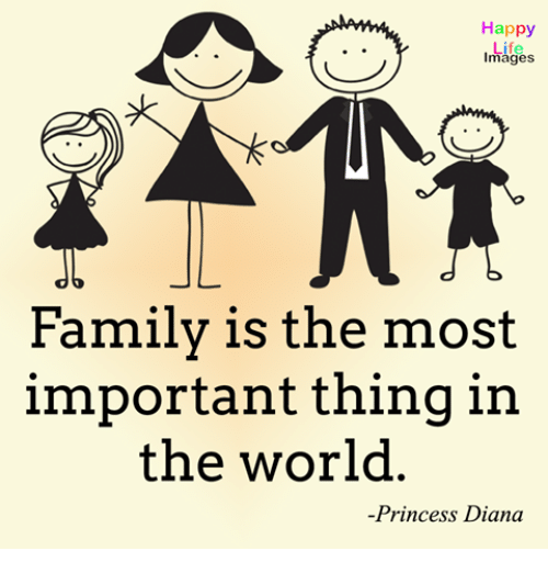 family ties are the most important things in life A strong family gives its members the support they need to make it through life's  toughest  strong families have open lines of communication -- where all family   it is important that the family ritual be predictable and that other activities are  not  in child-preferred activities is one of the most powerful things parents can  do.