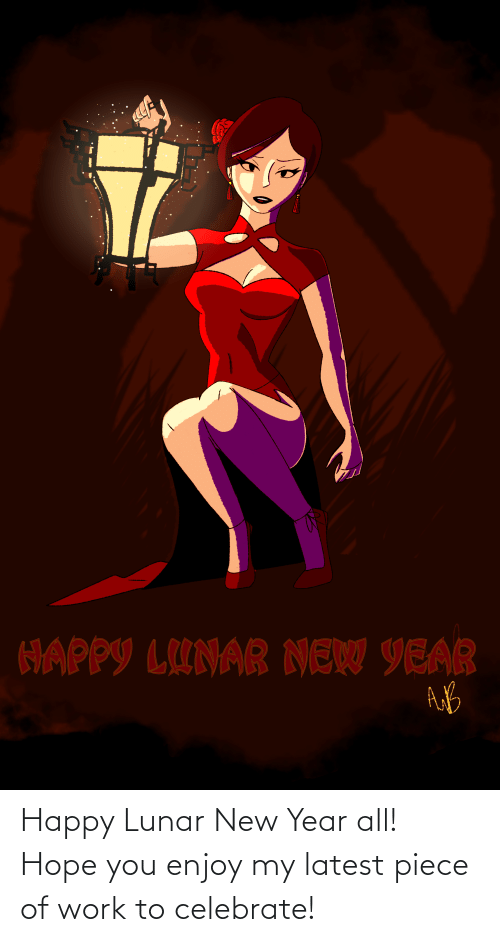lunar new year: Happy Lunar New Year all! Hope you enjoy my latest piece of work to celebrate!