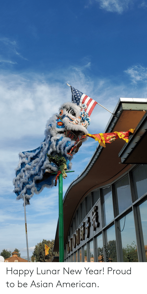 lunar new year: Happy Lunar New Year! Proud to be Asian American.