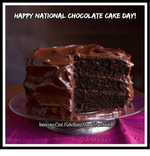 National Chocolate Cake Day Meme