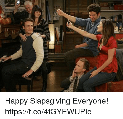 Memes, Happy, and 🤖: Happy Slapsgiving Everyone! https://t.co/4fGYEWUPIc