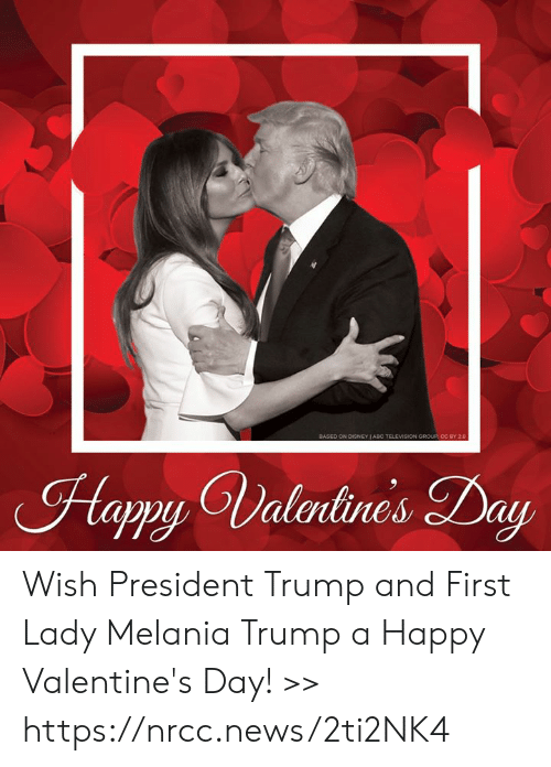Melania: Hapy Valrlines Day Wish President Trump and First Lady Melania Trump a Happy Valentine's Day! >> https://nrcc.news/2ti2NK4
