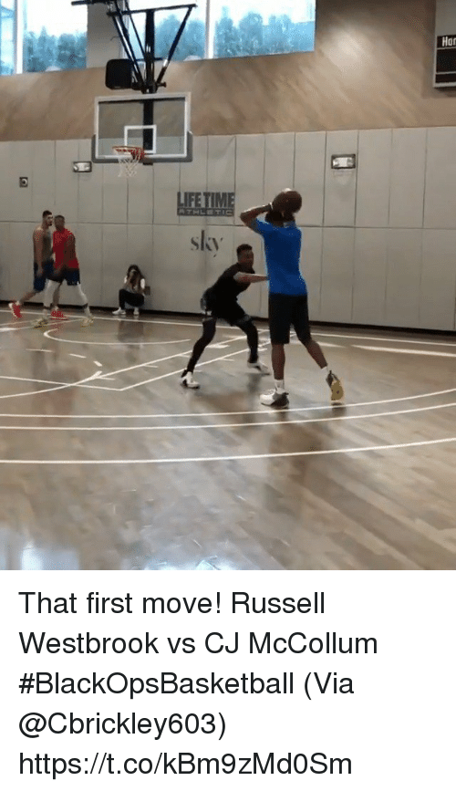 Memes, Russell Westbrook, and 🤖: Har  IFE  skv That first move!  Russell Westbrook vs CJ McCollum #BlackOpsBasketball   (Via @Cbrickley603) https://t.co/kBm9zMd0Sm