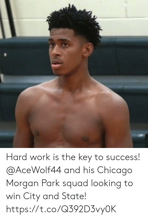 key to success: Hard work is the key to success! @AceWolf44 and his Chicago Morgan Park squad looking to win City and State! https://t.co/Q392D3vy0K