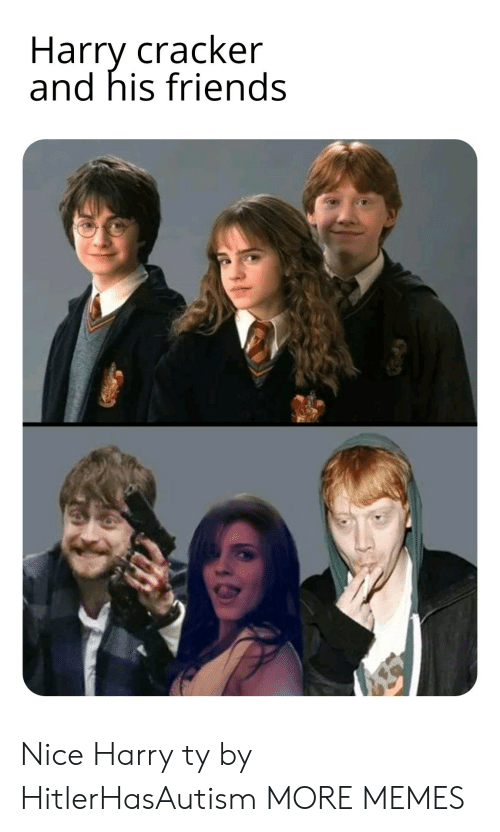 cracker: Harry cracker  and his friends Nice Harry ty by HitlerHasAutism MORE MEMES