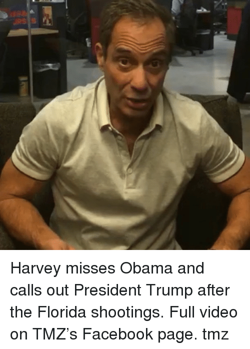 Facebook, Memes, and Obama: Harvey misses Obama and calls out President Trump after the Florida shootings. Full video on TMZ's Facebook page. tmz