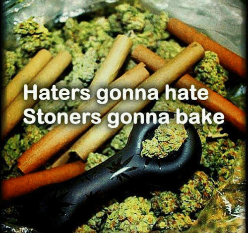 Hater Gonna Hate: Haters gonna hate  A  Stoners gonna bake