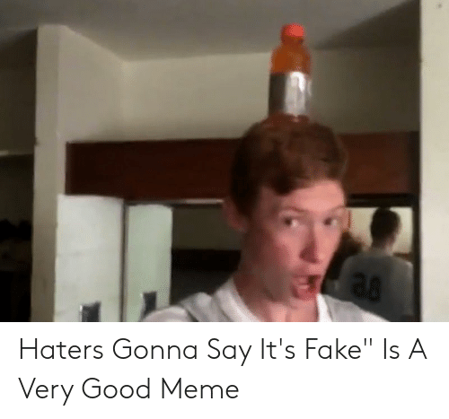 "Say What Meme: Haters Gonna Say It's Fake"" Is A Very Good Meme"
