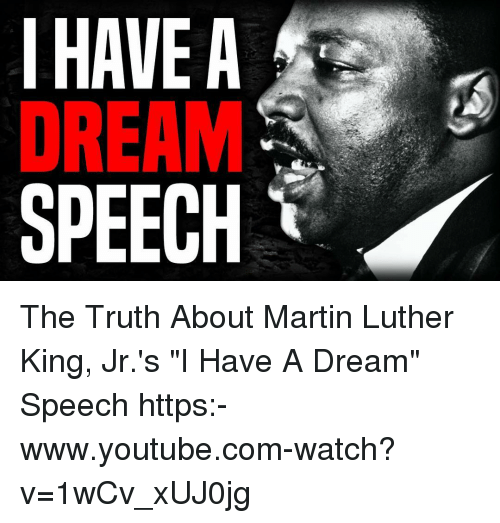 a better understanding of i have a dream by martin luther king jr Young students will learn about martin luther king jr and his dream for a better world before contributing to a display of their own dreams for the world.