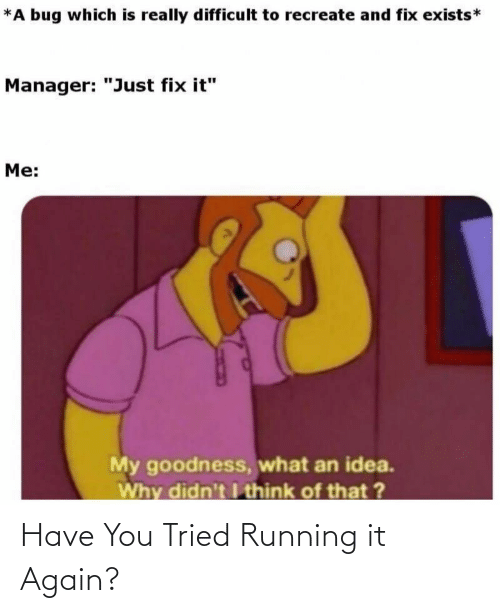 Running: Have You Tried Running it Again?