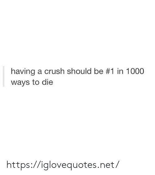 ways to die: having a crush should be #1 in 1000  ways to die https://iglovequotes.net/