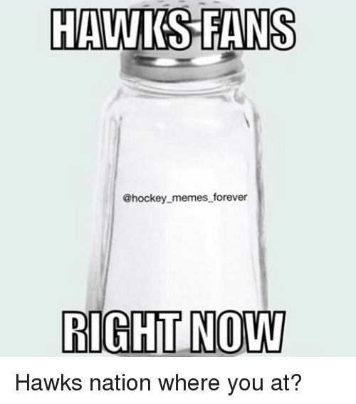 Hockey, Memes, and Forever: HAWIS FANS  @hockey memes forever  RIGHT NOW Hawks nation where you at?