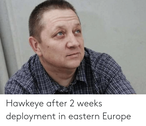 Weeks: Hawkeye after 2 weeks deployment in eastern Europe