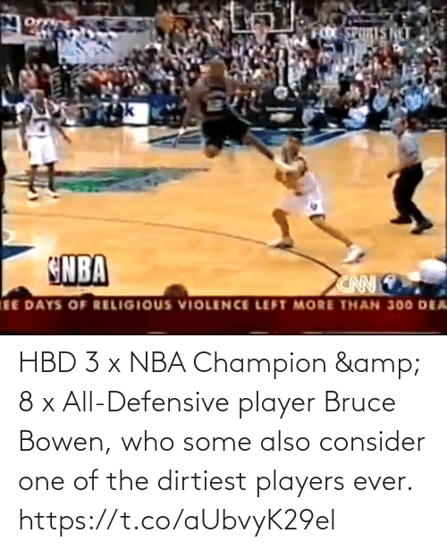 Some: HBD 3 x NBA Champion & 8 x All-Defensive player Bruce Bowen, who some also consider one of the dirtiest players ever.    https://t.co/aUbvyK29el