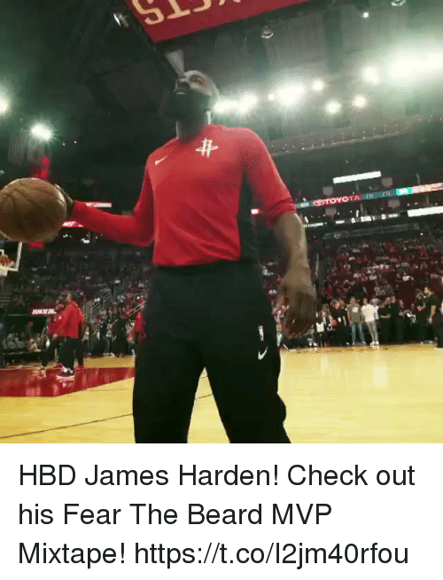 Beard, James Harden, and Memes: HBD James Harden! Check out his Fear The Beard MVP Mixtape!    https://t.co/I2jm40rfou