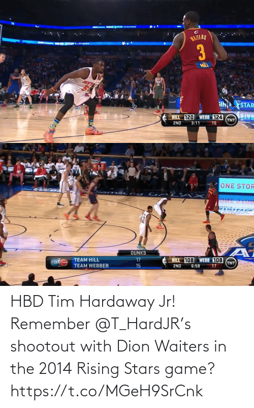 Waiters: HBD Tim Hardaway Jr!  Remember @T_HardJR's shootout with Dion Waiters in the 2014 Rising Stars game?   https://t.co/MGeH9SrCnk