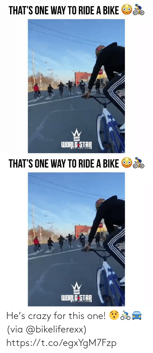 SIZZLE: He's crazy for this one! 😯🚴‍♂️🚘 (via @bikeliferexx) https://t.co/egxYgM7Fzp