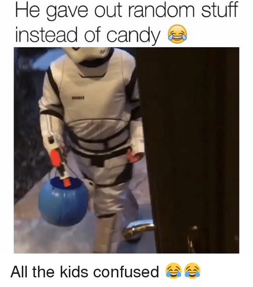 Candy, Confused, and Funny: He gave out random stuff  instead of candy All the kids confused 😂😂