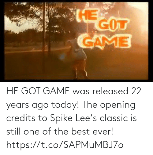 Opening: HE GOT GAME was released 22 years ago today!   The opening credits to Spike Lee's classic is still one of the best ever!   https://t.co/SAPMuMBJ7o