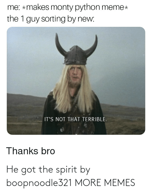 the spirit: He got the spirit by boopnoodle321 MORE MEMES