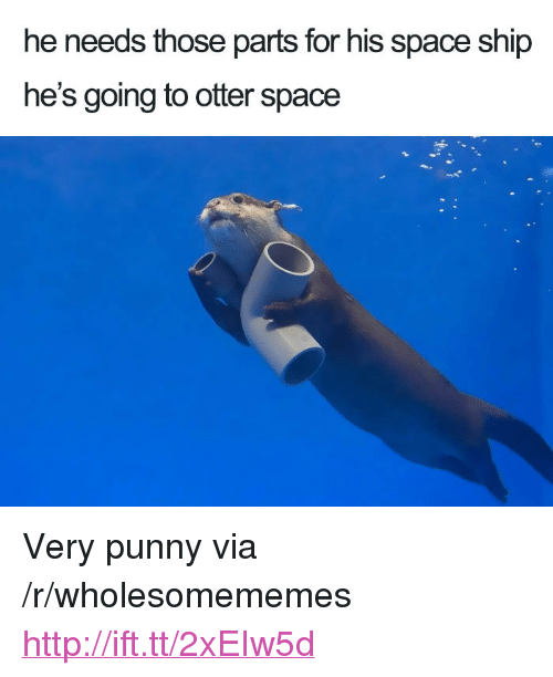 """Otter Space: he needs those parts for his space ship  he's going to otter space <p>Very punny via /r/wholesomememes <a href=""""http://ift.tt/2xEIw5d"""">http://ift.tt/2xEIw5d</a></p>"""